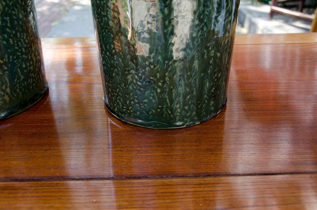 Ceramic Contemporary Thai Glazed Bottle Neck Vase For Sale