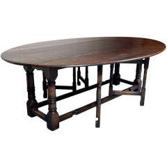 Custom, English Oak Gate Leg Table