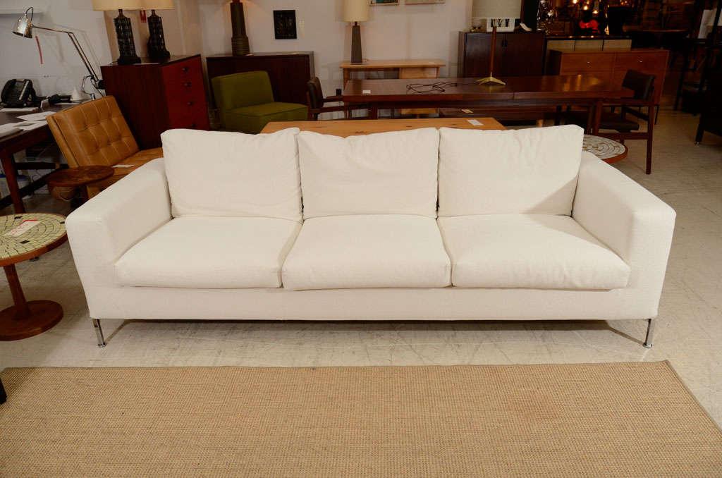 3 seat slip covered sofa from Troy, NY 4