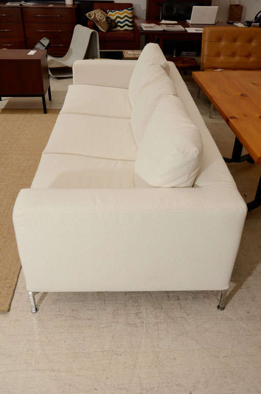 3 seat slip covered sofa from Troy, NY 8