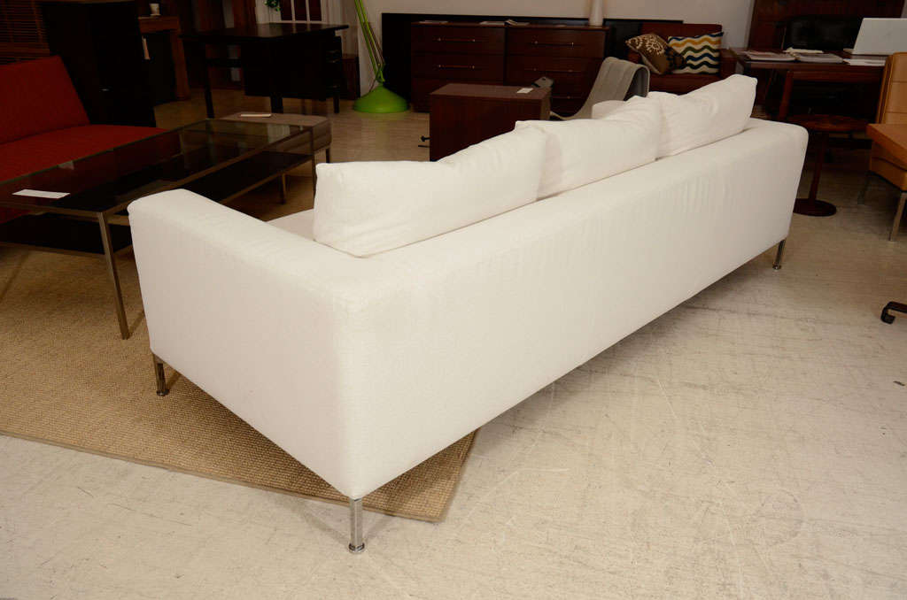 3 seat slip covered sofa from Troy, NY 9