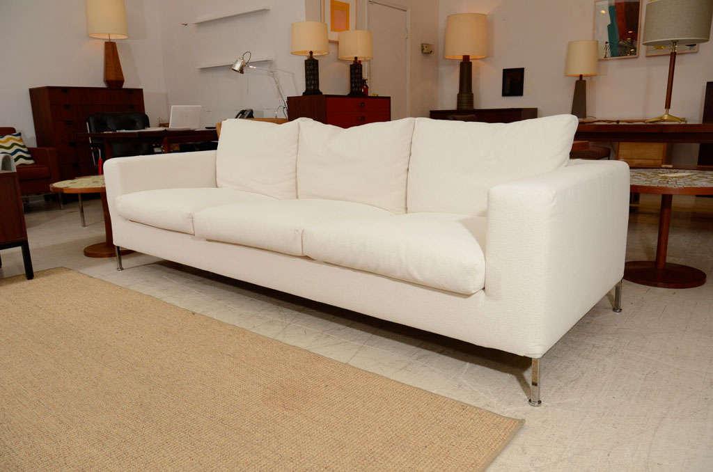 3 seat slip covered sofa from Troy, NY 2
