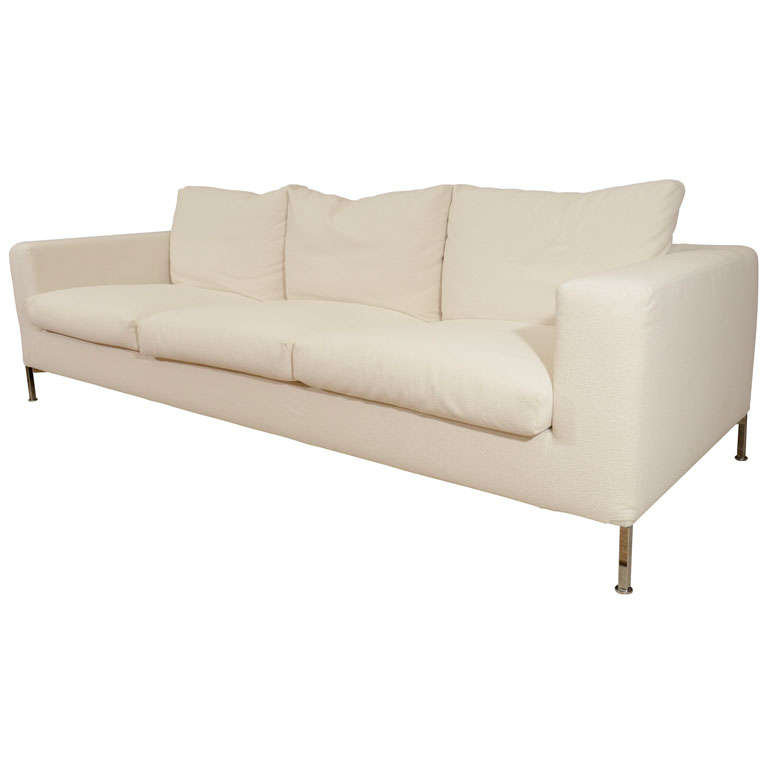 3 seat slip covered sofa from Troy, NY 1