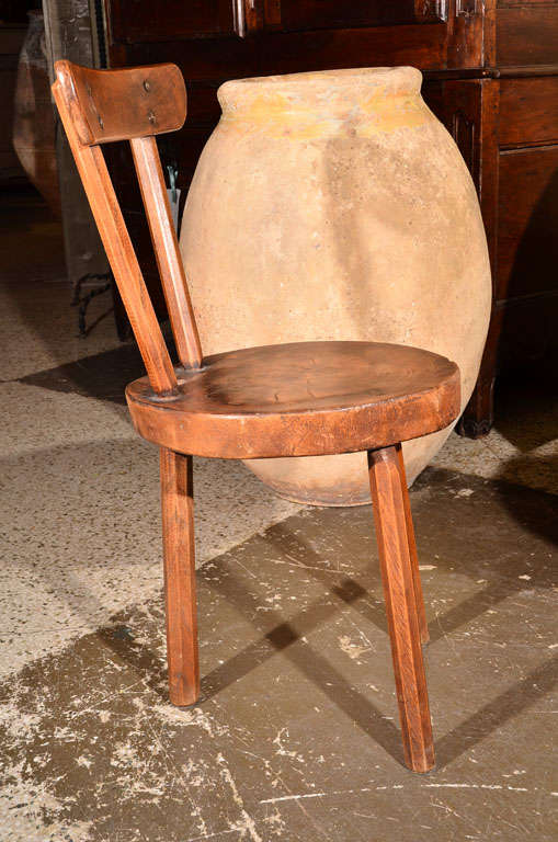 Pair Primitive Chairs At 1stdibs
