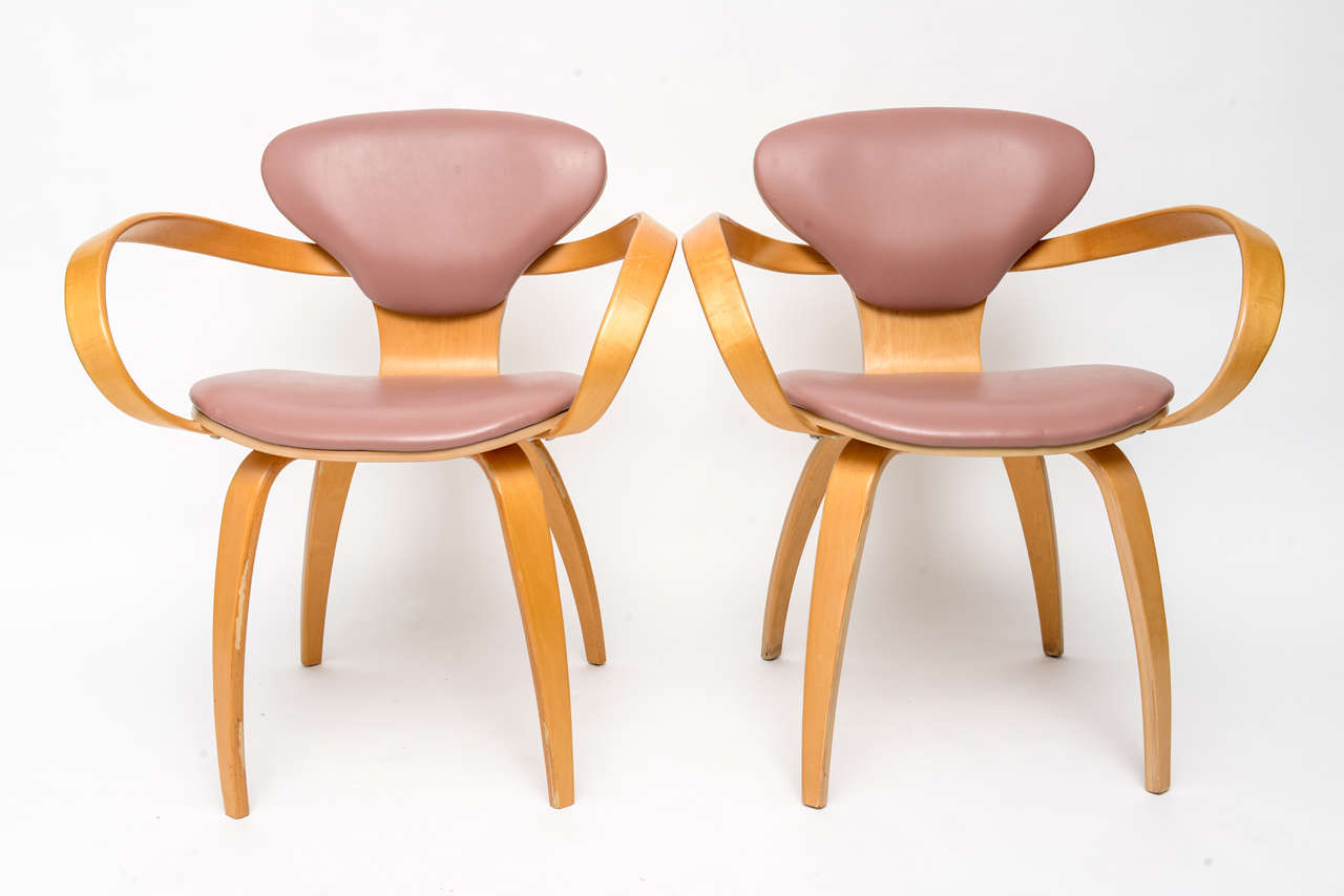 Set of eight Norman Cherner for Plycraft dining chairs,circa 1960