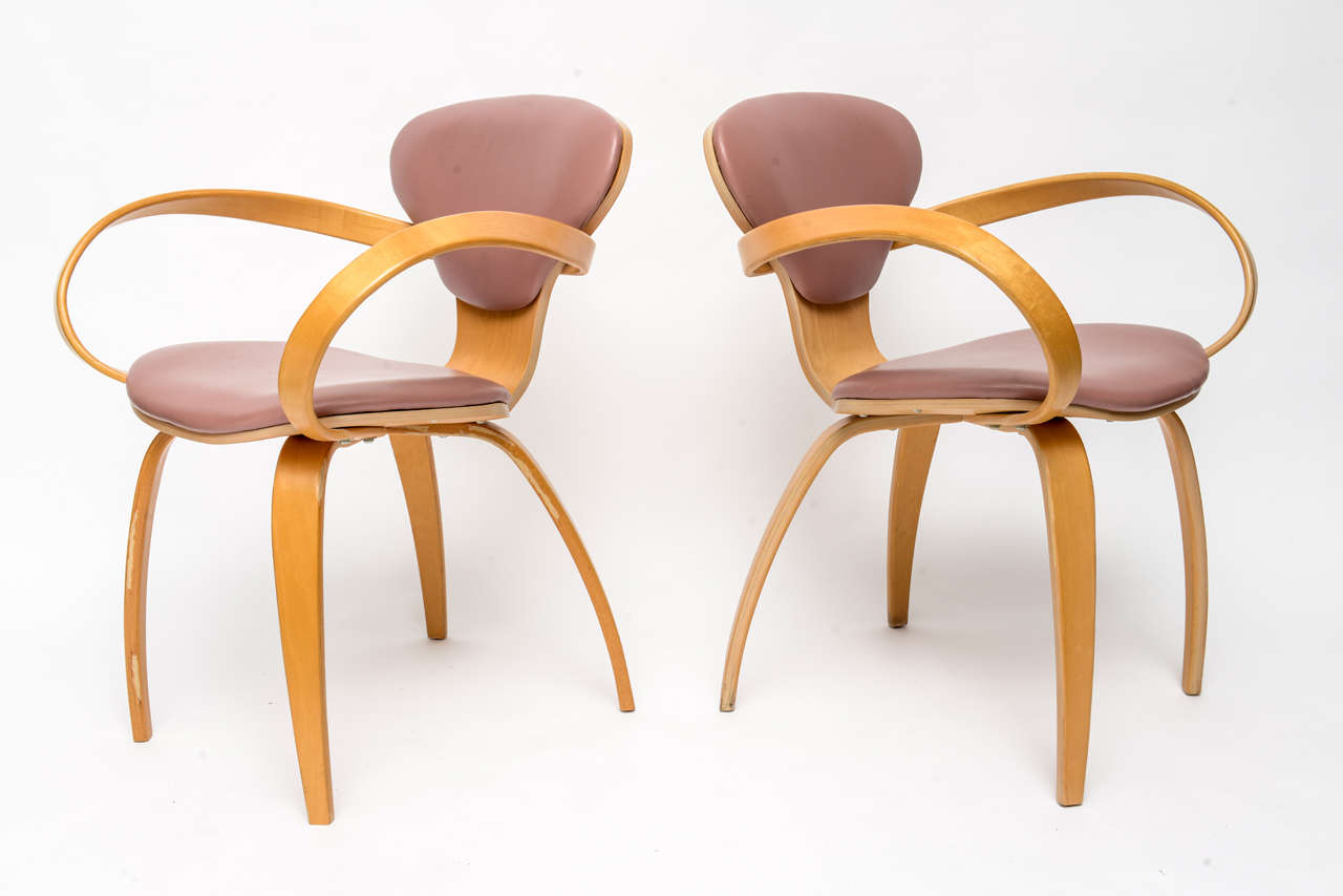 American Normal Cherner Pretzel Chairs for Plycraft For Sale
