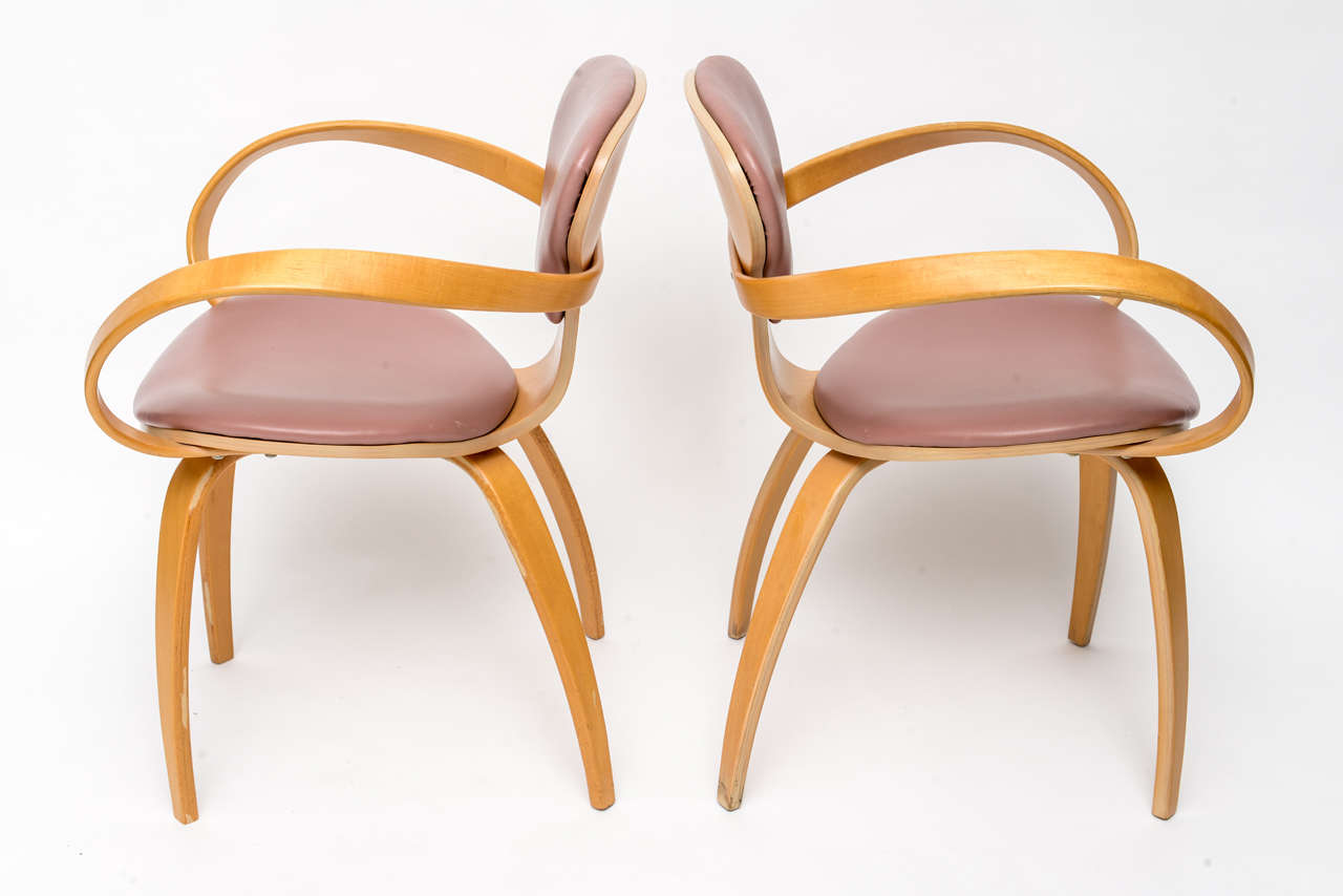 Normal Cherner Pretzel Chairs for Plycraft In Excellent Condition For Sale In Miami, FL