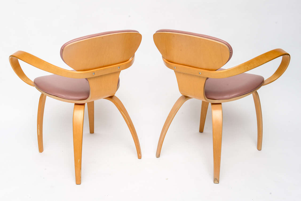Mid-20th Century Normal Cherner Pretzel Chairs for Plycraft For Sale