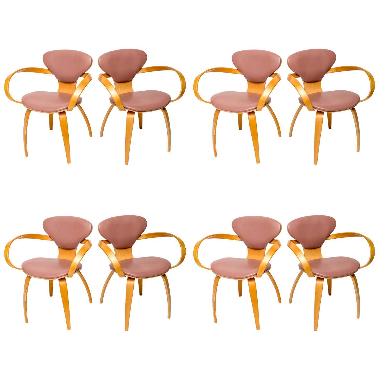 Normal Cherner Pretzel Chairs for Plycraft For Sale
