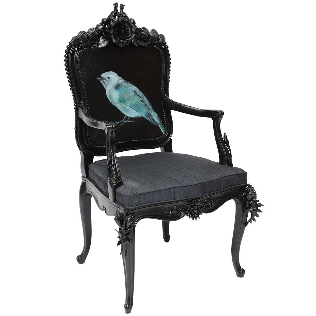 Customized Vintage Baroque Chair For Sale