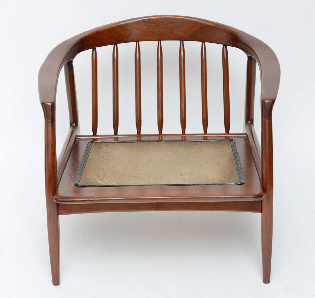 Milo baughman wood spindle arm chair at stdibs