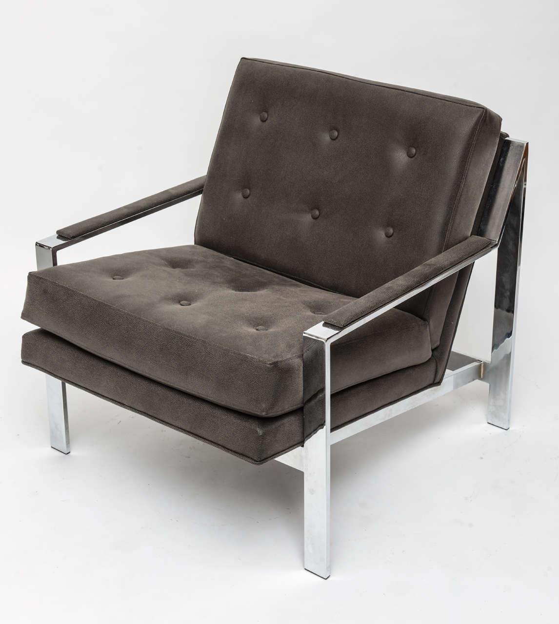 Mid-Century Modern Cy Mann Chrome Chair For Sale
