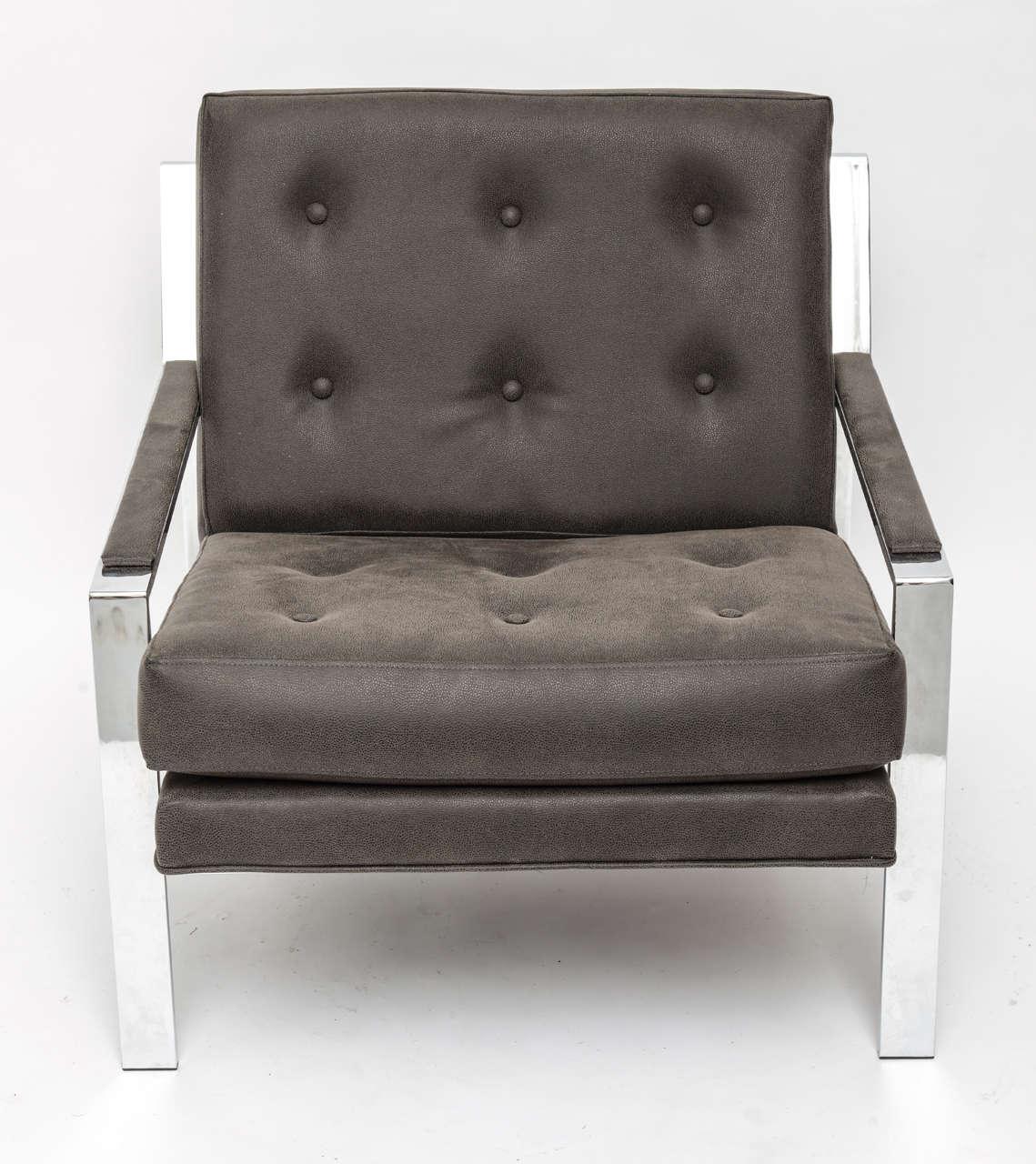 American Cy Mann Chrome Chair For Sale