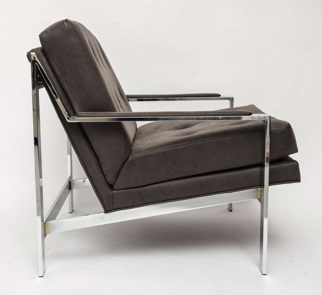 Cy Mann Chrome Chair In Excellent Condition For Sale In Miami, FL