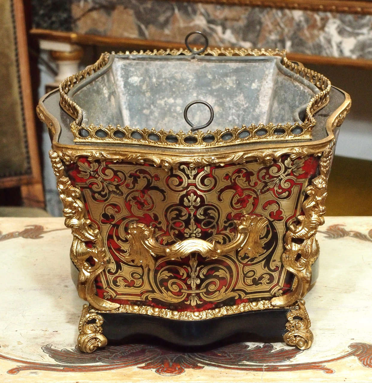 French napoleon iii boule jardiniere for sale at 1stdibs for Jardiniere napoleon 3