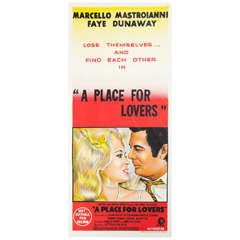 """1968 Film Poster """"A Place for Lovers"""" Faye Dunaway Australian Market"""