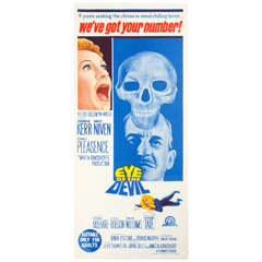 "1966 Film Poster ""Eye of the Devil"" Starring Deborah Kerr Australian Market"