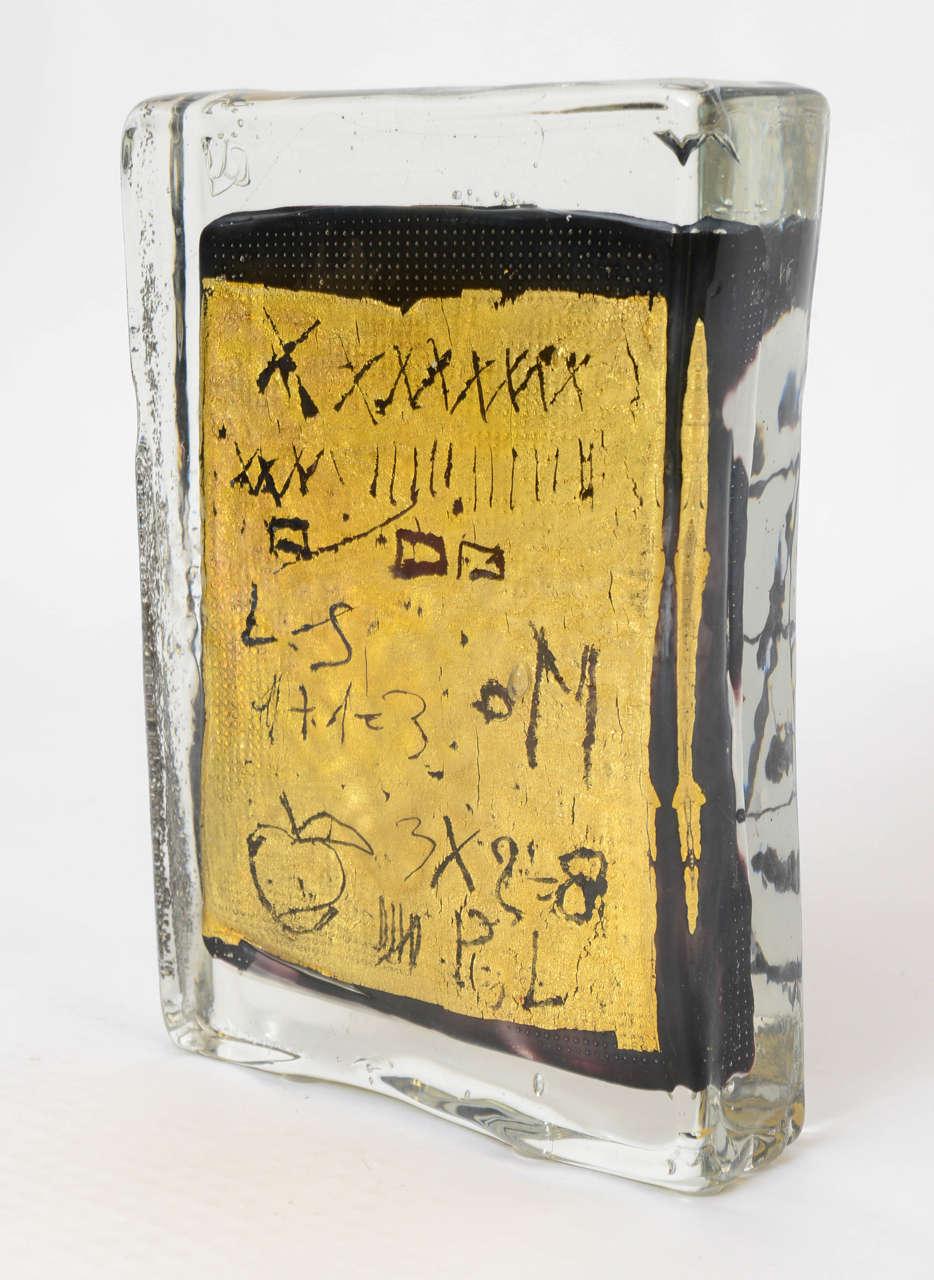 Silvano Signoretto Murano Glass Block Sculpture For Sale At 1stdibs
