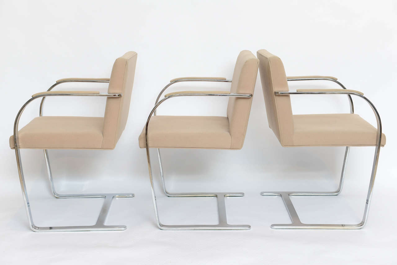 Set of Six Mies Van Der Rohe Flatbar Brno Chairs 6