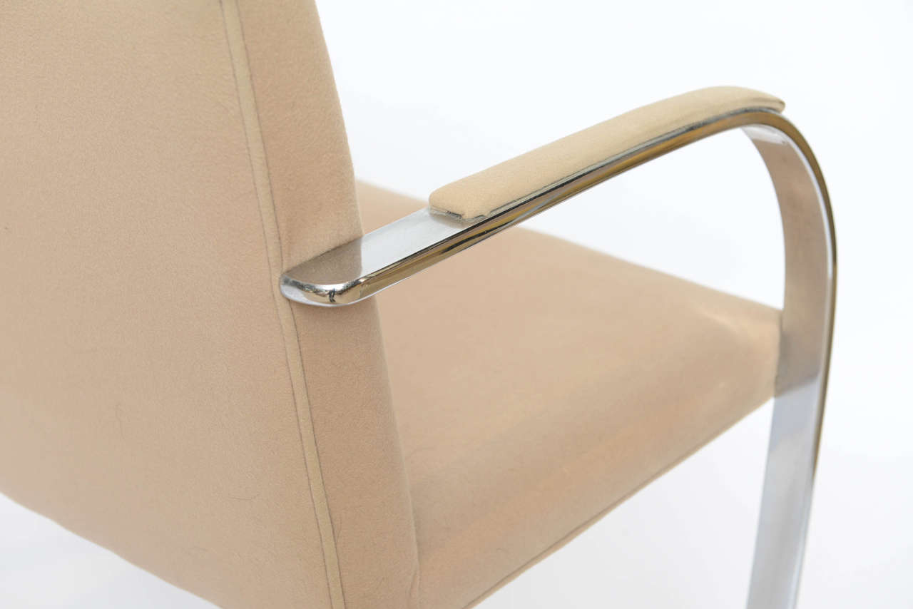 Set of Six Mies Van Der Rohe Flatbar Brno Chairs For Sale 3