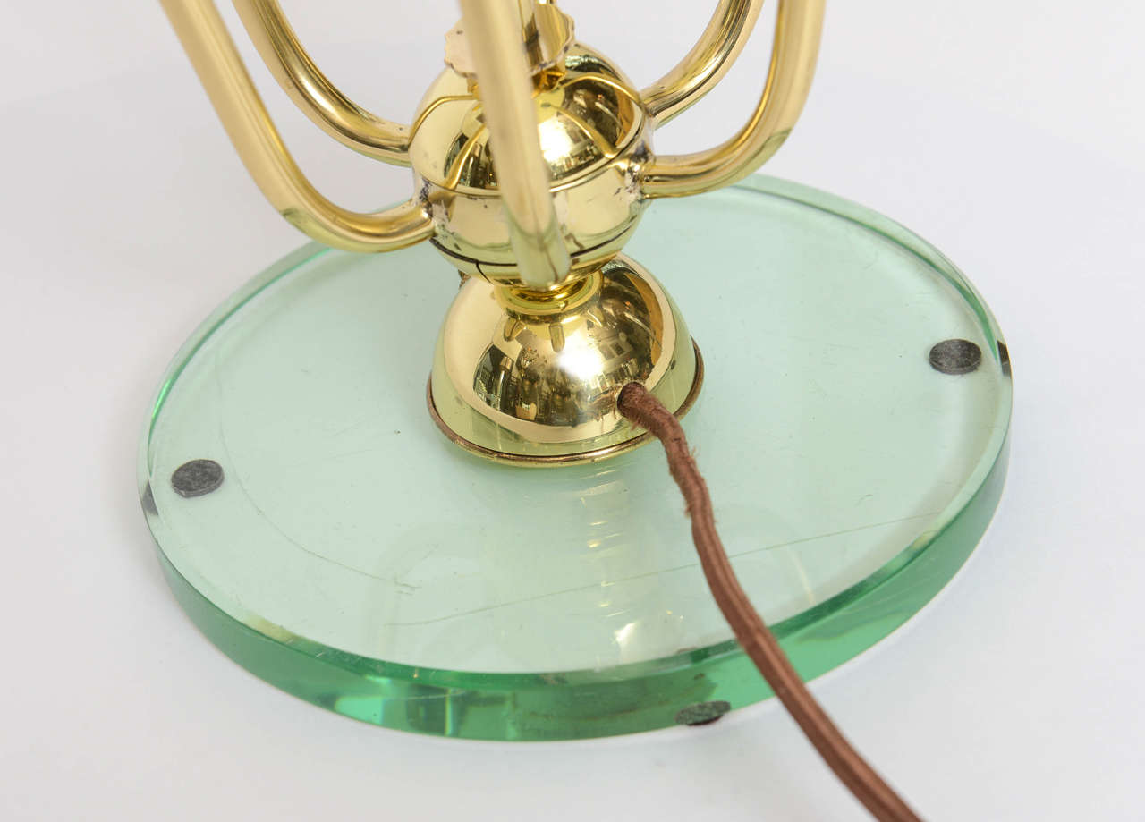 Exceptional Italian Table Lamp in Manner of Fontana Arte For Sale 4