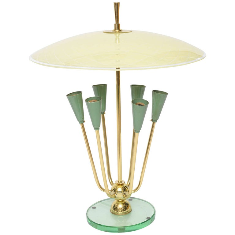 Exceptional Italian Table Lamp in Manner of Fontana Arte For Sale