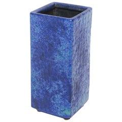 Geometric Klein Blue Vintage Pottery Vase