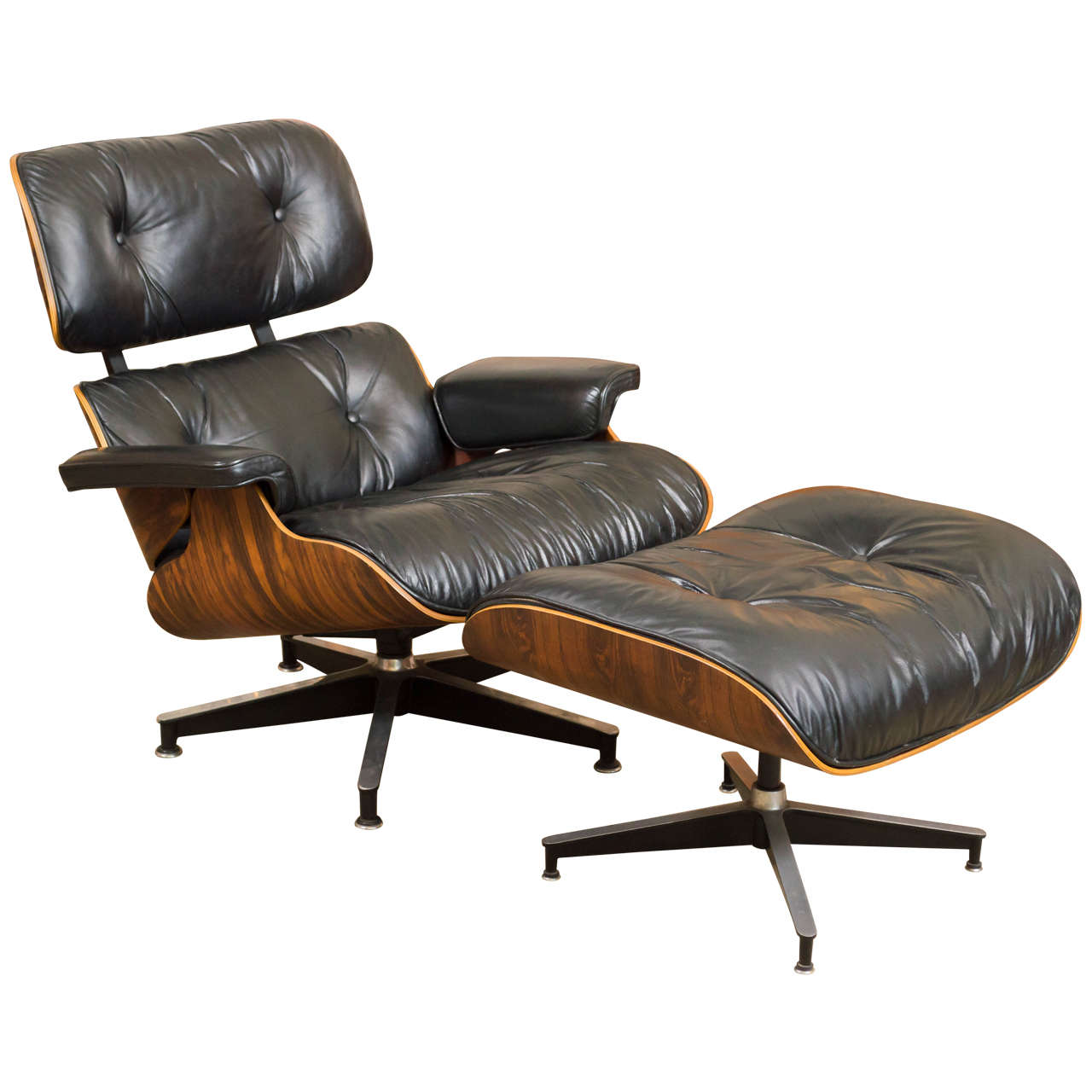 eames rosewood lounge chair 670 and ottoman 671 for herman. Black Bedroom Furniture Sets. Home Design Ideas