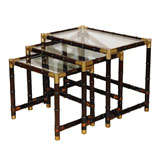 Set of Faux Bamboo Nesting Tables
