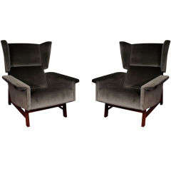Pair of Architectural Club Chairs