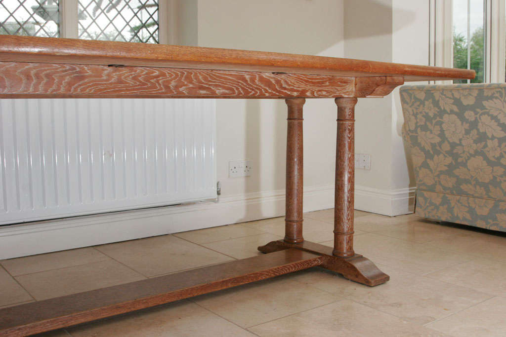 Philip Tilden Oak Dining Table England Circa 1910 For