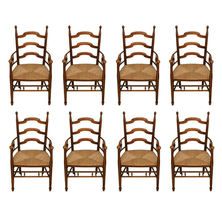 Set of eight arts and crafts dining chairs at 1stdibs - Arts and crafts dining room furniture ...