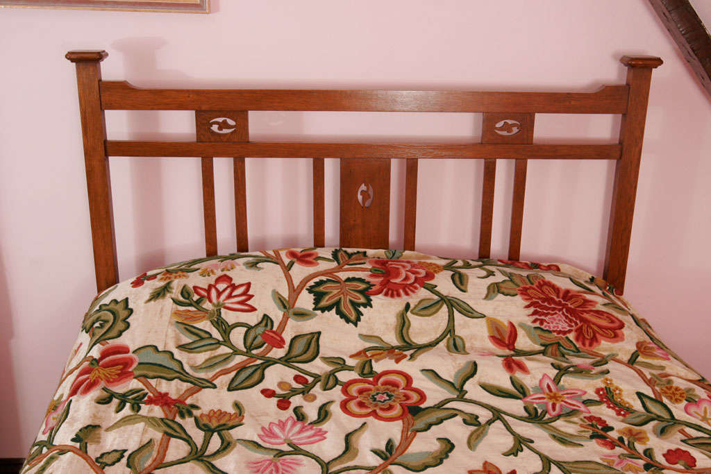 An Arts And Crafts Oak Double Bed At 1stdibs