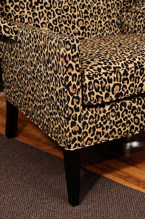 mid century leopard print canopy chair at 1stdibs