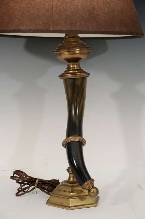 Pair Of Horn Lamps By Chapman At 1stdibs