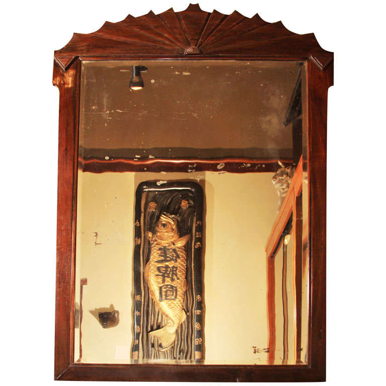 Chinese Art Deco Blackwood Mirror At 1stdibs