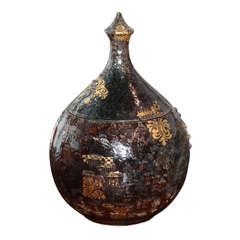 Bjorn Wiinblad Ceramic Vase with Lid, Danish Pottery