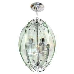 1950's Chrome and Glass Lantern