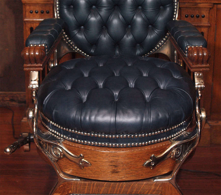 Antique American Barber's Chair circa 1890 4