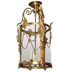 Classic Design Antique Bronze D'ore Lantern, circa 1890-1900