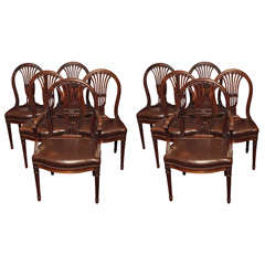 Set of Ten Mahogany Dining Chairs