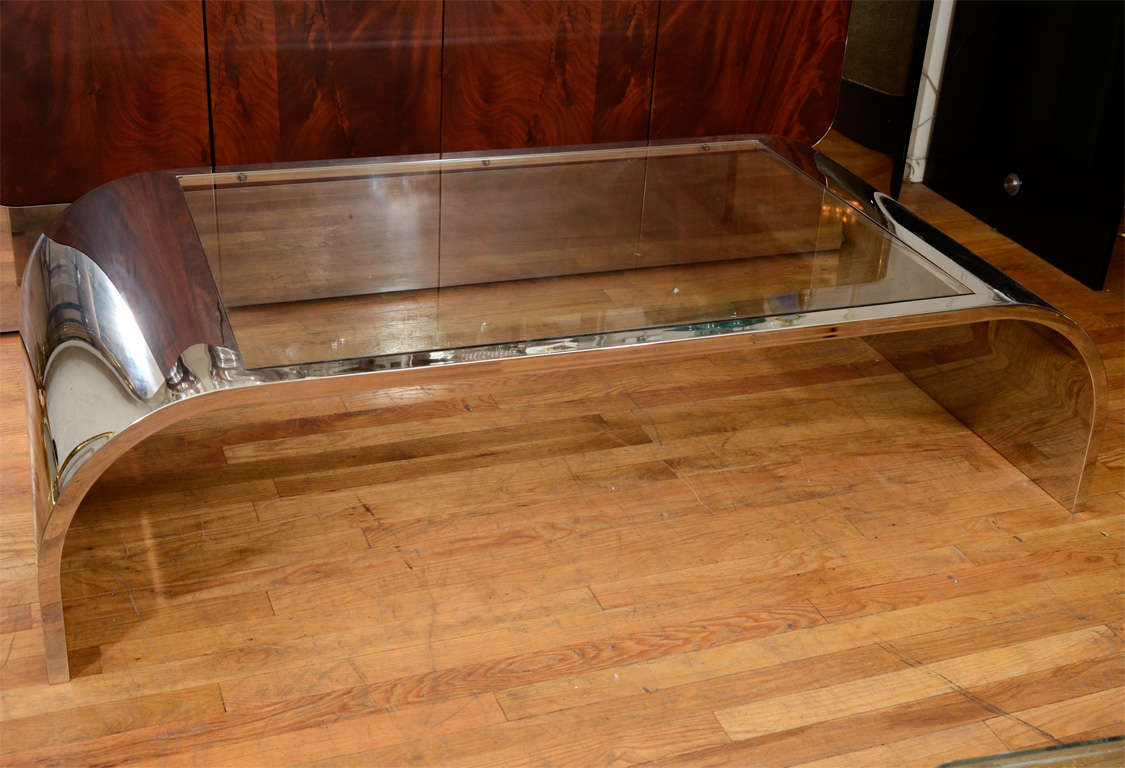 Chrome Waterfall Coffee Table By Pace 2 Part 32
