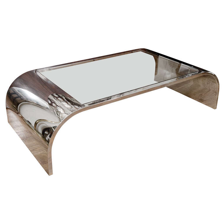 Chrome Waterfall Coffee Table By Pace At 1stdibs