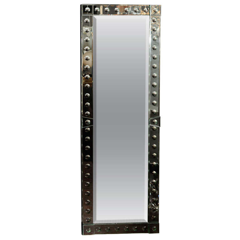 Custom Ponti Mirror with Side Baguette