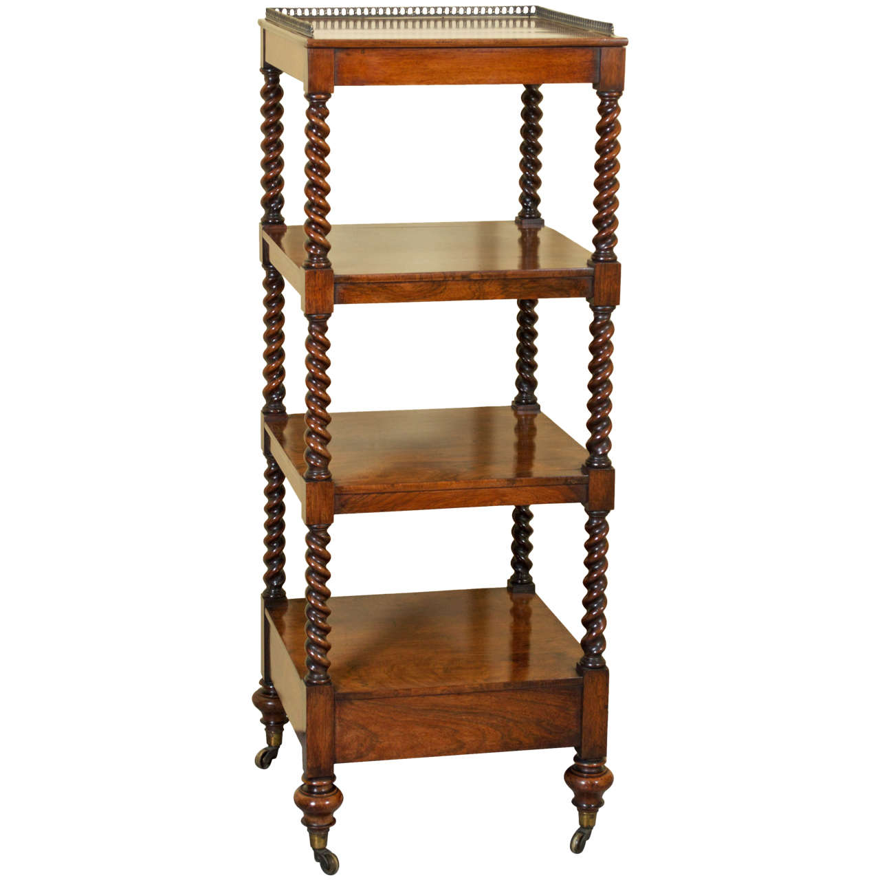 19th Century Victorian Rosewood Whatnot or Etagere at 1stdibs