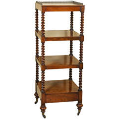 19th Century Victorian Rosewood Whatnot or Etagere