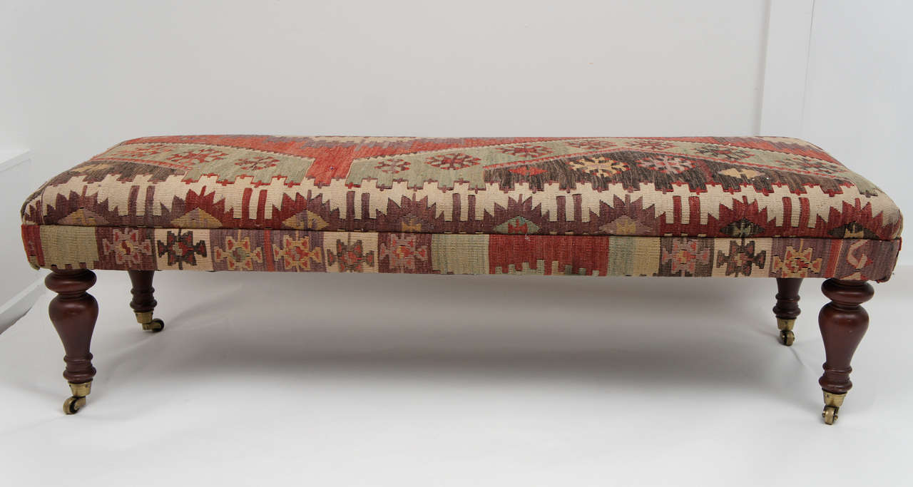 kilim bench... minus the wheels | Kilim bench, Ottoman ... |Kilim Ottoman Bench
