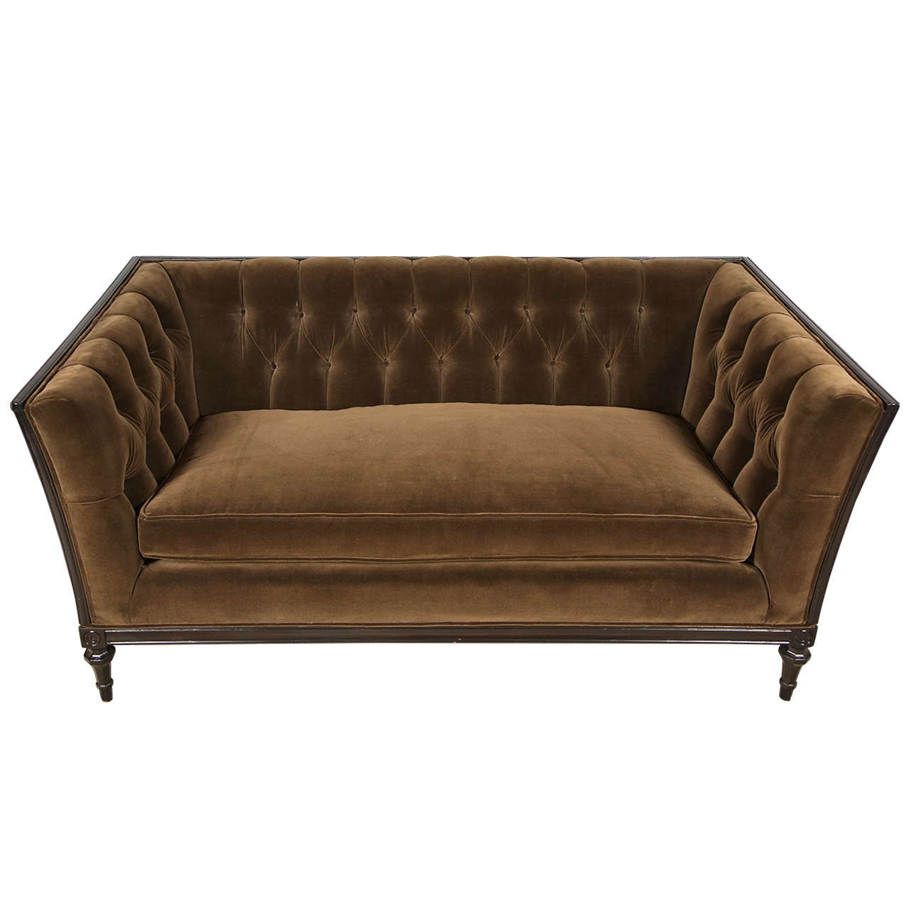 French Tufted Loveseat At 1stdibs