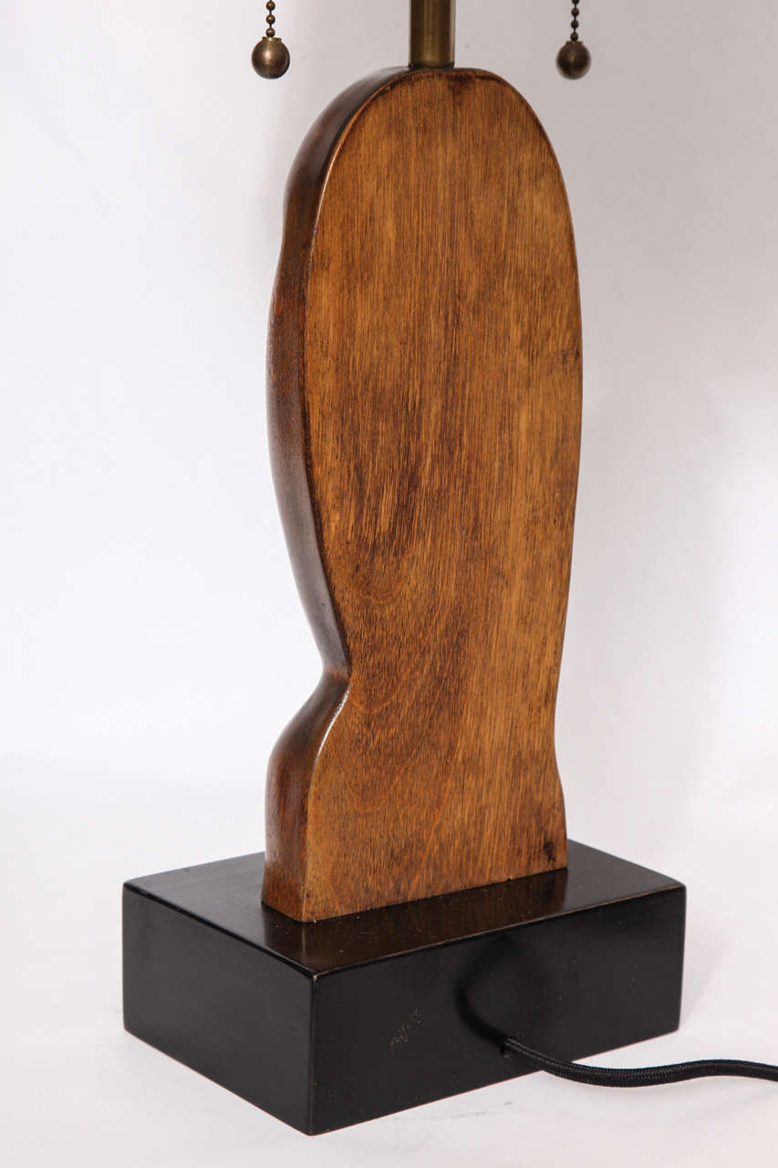 Pair of 1950s Sculptural Table Lamps Signed Heifetz In Excellent Condition For Sale In New York, NY