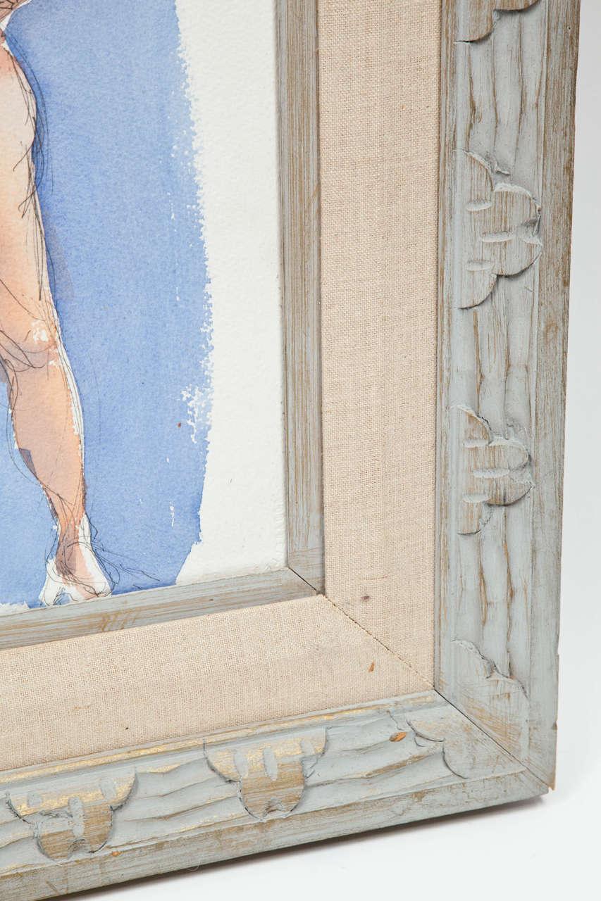 Beautiful nude painting by Barbara Pound, circa 1960.